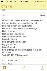 2000 xr 400r  with papers need gone 1500