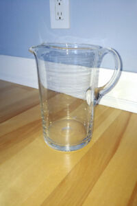 Solid Glass Jug - Decanter - Watering Can - Vase
