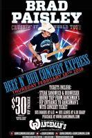 3 Brad Paisley pre-concert tickets at ranchmans! 60$ obo
