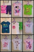 Lot of toddler GIRL summer tops and outfits