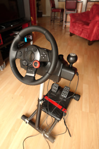 Logitech Driving Force GT + Wheel Stand Pro for PS2/PS3/PC