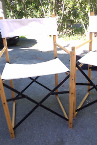 4 dining room chairs: director style IKEA