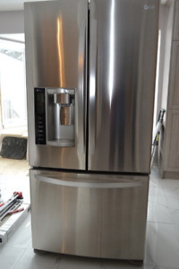 LG Brushed Stainless Steel 33 inch Refrigerator