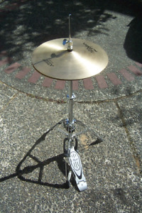 Quality Ziljian Hi Hat Cymbal and Pearl Stand