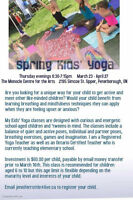 Kids' Yoga in March and April