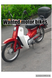 Wanted motor bikes