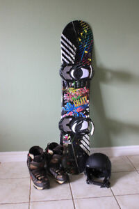 Snowboard. Bindings and Boots