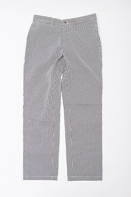 A.P.C. Striped Casual Pants 34 Black Womens Used