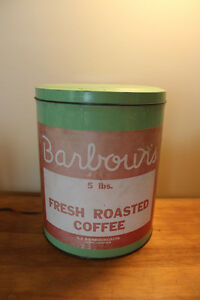 Vintage Barbour's Fresh Roasted Coffee Tin