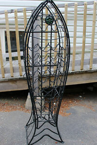 beautiful iron wine rack