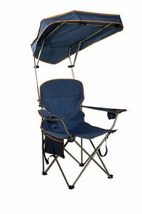 Portable Folding Camp Chair with Adjustable Shade Canopy