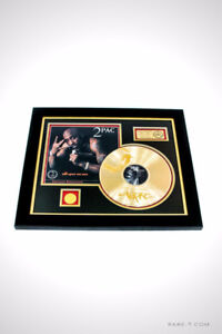 LIMITED EDITION GOLD LP `2 PAC - BIOGRAPHY ALL EYEZ ON ME` FRAME