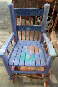 Vintage Folk Art Childs Rocking Chair