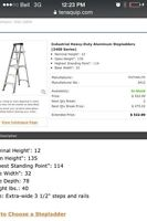 12 ft industrial aluminum feather lite step ladder