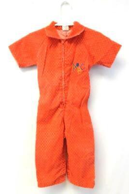 Vintage Buster Brown Jumpsuit Red Corduroy Polka Dot Toddler Size 24 Months