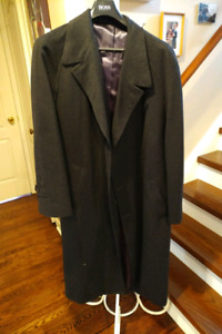 Men's Cashmere and Wool  Royal Blue Winter Coat