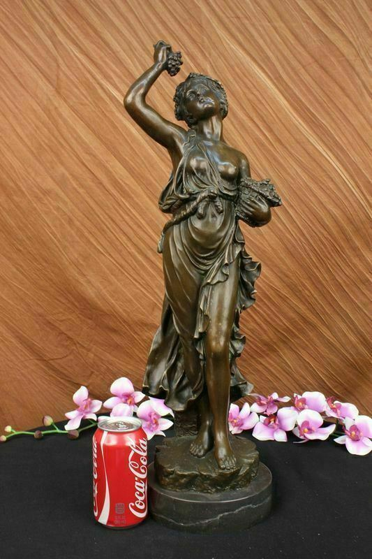 "Italian ""Grand Tour"" Patinated Bronze Figure of Bacchus On Marble Figurine Sale"