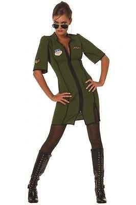 Jet Pilot Pilotenkostüm Pilotin Armee Anzug Kostüm Uniform Kleid Flieger Kombi