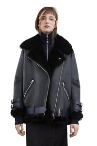 New Acne Studios Shearling Winter Jacket Size US2/EU32