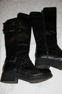 Harley Davidson women's leather knee high boots