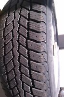 four 185-65-14 winter tires with rims aluminum