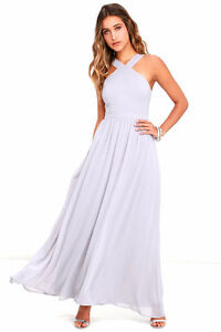 Beautiful light grey bridesmaid dress
