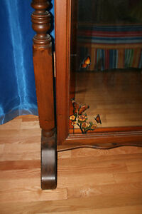 Full Length Solid Oak Mirror With Stained Glass Trim Windsor Region Ontario image 3