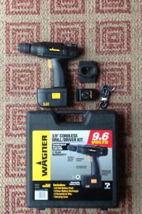 Cordless 3/8 inch Wagner Drill Kit