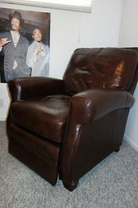Fauteuil inclinable en 100% cuir - Recliner 100% Leather