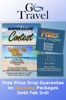 Free Price Drop Guarantee and a Win Travel Voucher!