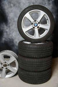 5 Original BMW Rims with summer tires