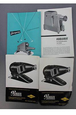14 Prospekte, Diaprojektoren u.a., 1950er Jahre