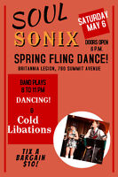 Sping Fling dance  with SoulSonix - pop, rock and soul
