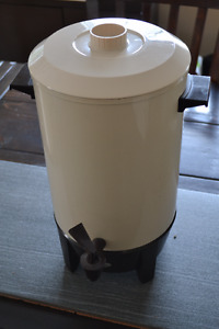 Coffee Urn, Cream Color, Electric, Made by Westbend