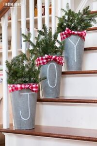 REDUCED: Maple Syrup Sap Buckets for outdoor Christmas Greenery London Ontario image 2
