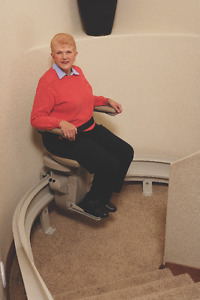 STAY IN YOUR HOME - Elite Curved Stairlift