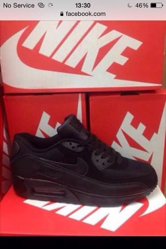 bvsyb WHOLESALE NIKE TRAINERS AIR MAX 90 AIRMAX TRIPLE BLACK | in