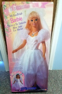 1994 BARBIE MY SIZE BRIDE DOLL- 12052 - 3 FOOT TALL NIB