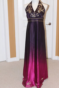 Purple and Pink maxi dress from Monsoon (in UK) Medium fit