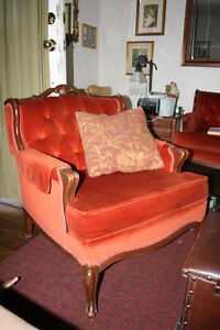 French Provincial Sofa and Chair, Antique Set Kawartha Lakes Peterborough Area image 2