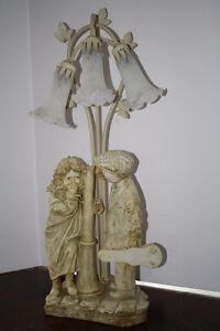 Shy Little Girl & Flirting Little Boy Crosa Collection Lamp Belleville Belleville Area image 2