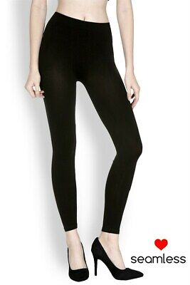 Women's Black Footless Tights Ankle Length Seamless 25