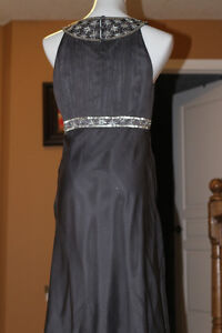 Grey Silver Beaded cocktail dress from Monsoon (UK) fits US 10 Kitchener / Waterloo Kitchener Area image 4