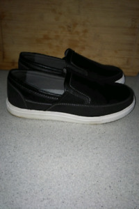 New Pair of George Memory Foam Black Slip on Shoes