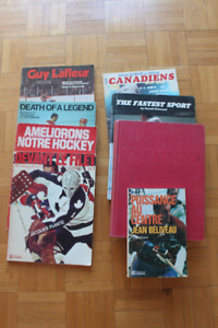 Lot (8) livres Candiens NHL Hockey retro antique vintage 197x-8x