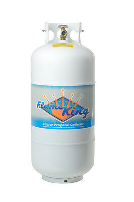 NEW 40 LB Pound Steel Propane Tank Refillable Cylinder with OPD Valve