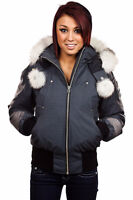 Grey Moose Knuckle Bomber for Woman