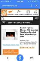 Wall-mount electric fireplace