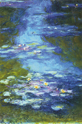 Water Lilies Poster Print by Claude Monet, 24x36