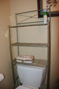 3-Shelf Bathroom Space Saver, Satin Nickel Finish. Easy assembly